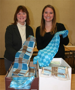 Ladies Give Gift of Warmth to Monongahela Valley Hospital's Cancer Patients photo