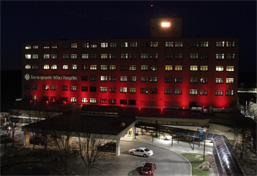 Monongahela Valley Hospitial is red for heart health awareness photo