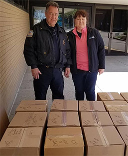 MVH and Carroll Twp. Police Break Drug Collection Record photo