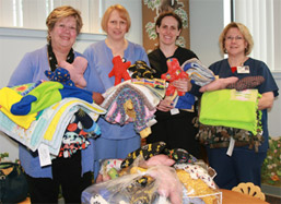 Blankets, Dolls Donated to Monongahela Valley Hospital photo