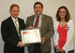 Accepting the Get With Guidelines Stroke Bronze Award photo