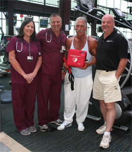 Trained Staff at Fitness Center Save Man's Life photo