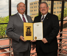 Senator Presents Monongahela Valley Hospital with Hospital Week Resolution photo