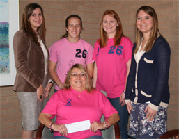 Monongahela Valley Hospital receives donation from Ringgold Lady Rams photo